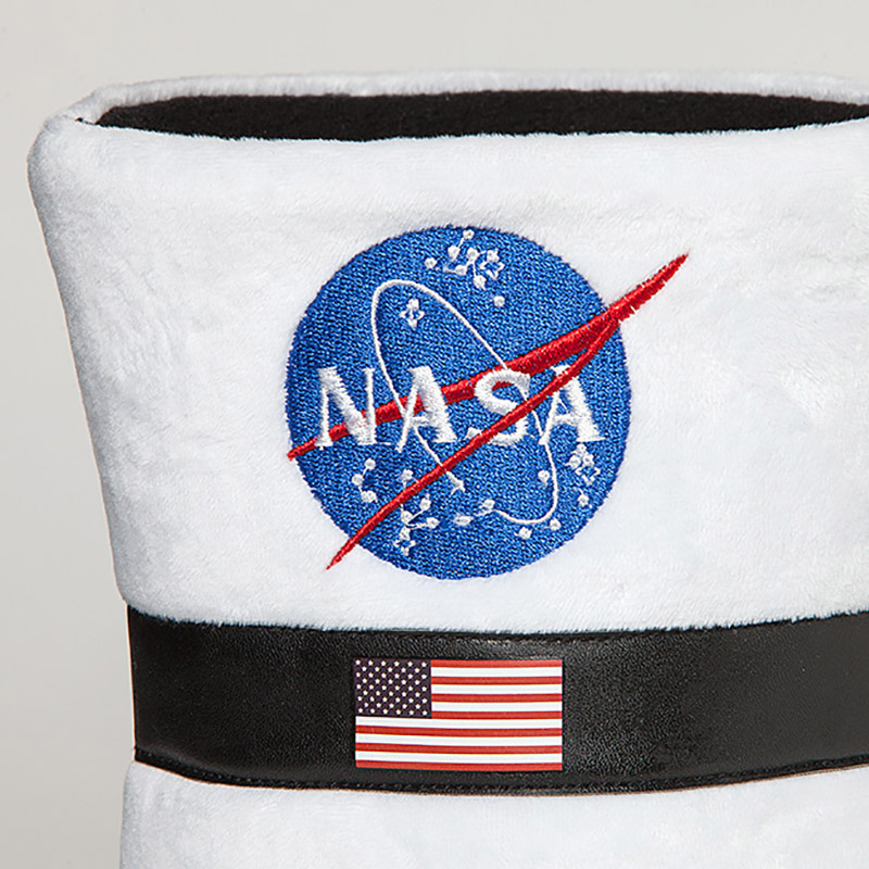 Astronaut Boot Plush Slippers