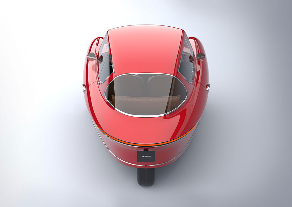 Nobe 100 Three-Wheel Electric Car