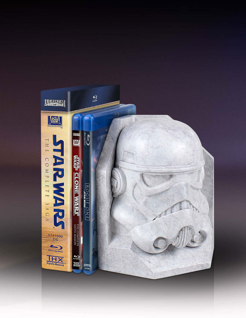 Star Wars Faux Marble Bookends
