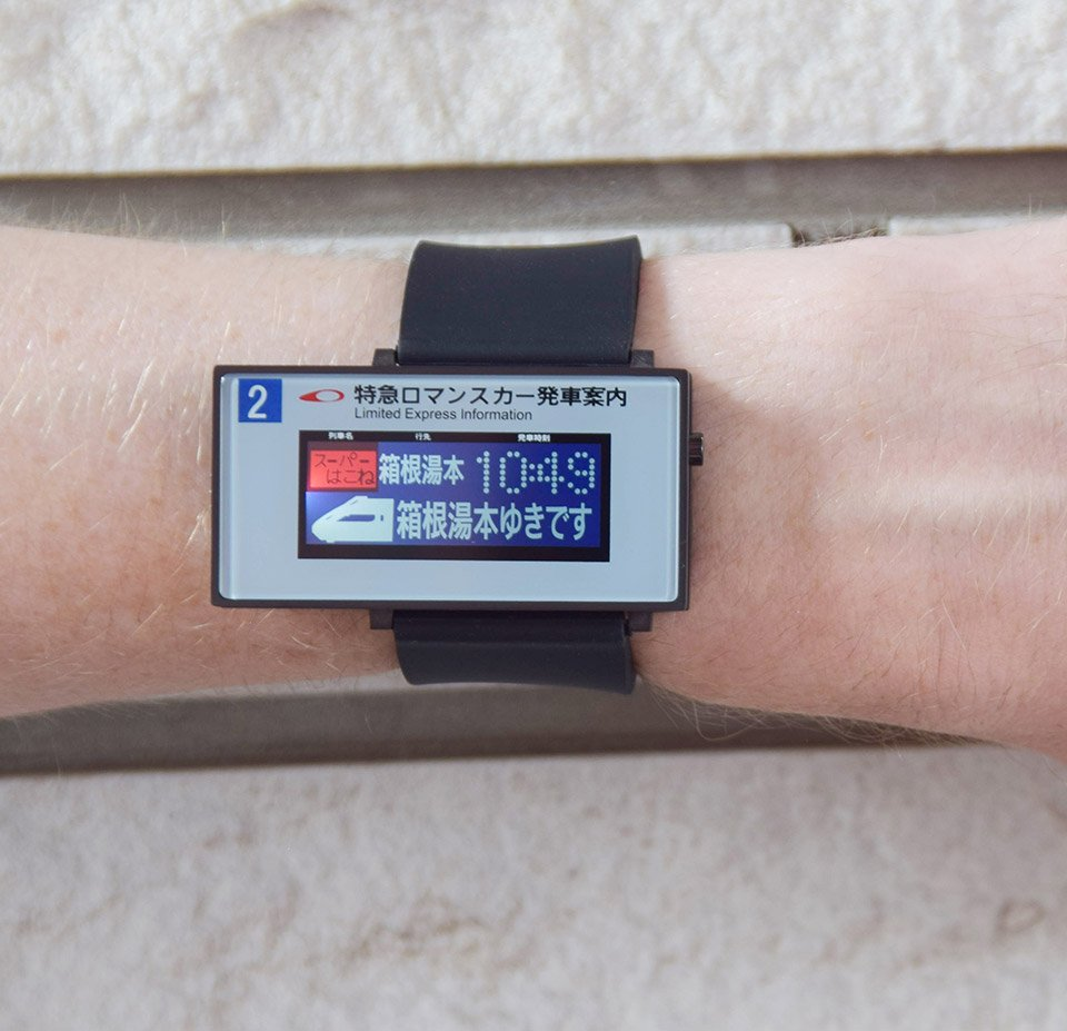 TokyoFlash Train Line Watch