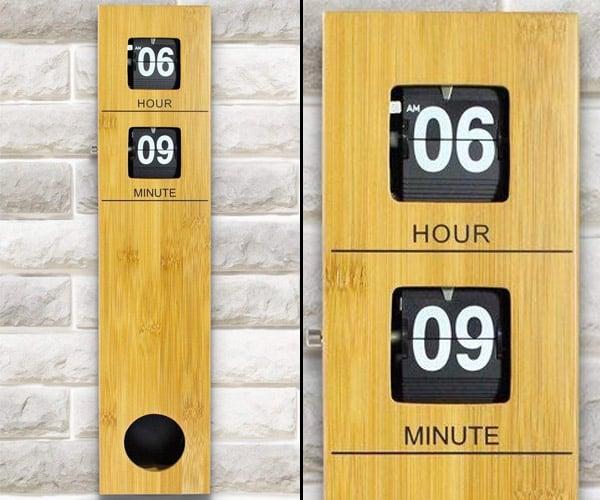Bamboo Flip Clock