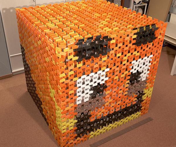 21,000 Domino Cube