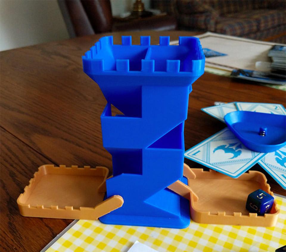 Folding Dice Tower