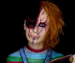 Chucky Bodypainting Illusion