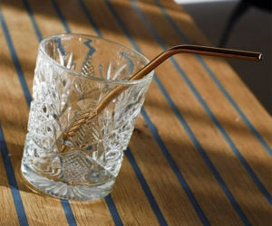 Copper Cocktail Straws