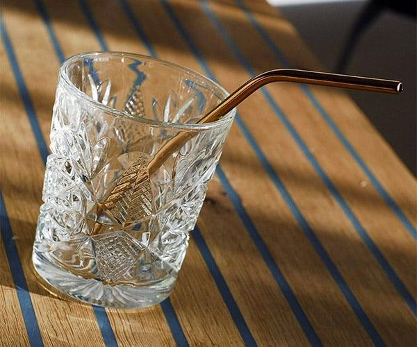 Copper Cocktail Straws