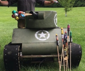 DIY Mini Tank with Fireworks