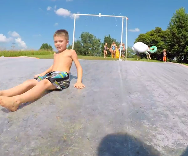 How to Make a Giant Slip N' Slide