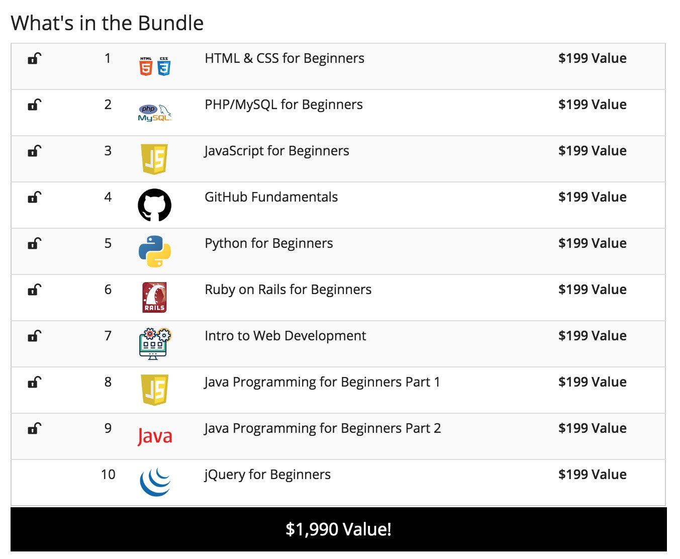 Deal: Coding 101 Bundle