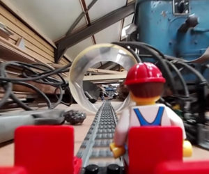360º LEGO Train Factory Ride