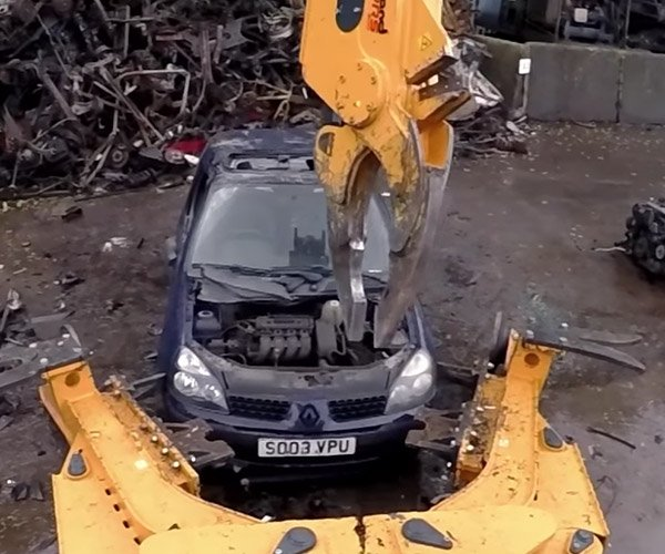 Machine Dismantling a Car