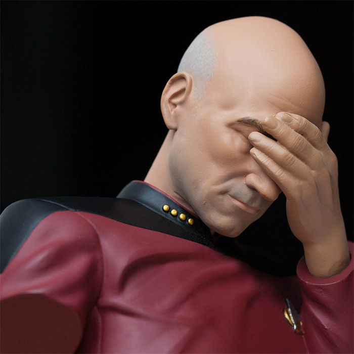 Picard Facepalm Bust