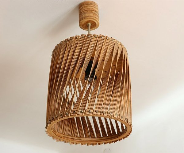DIY Twisted Plywood Lamp
