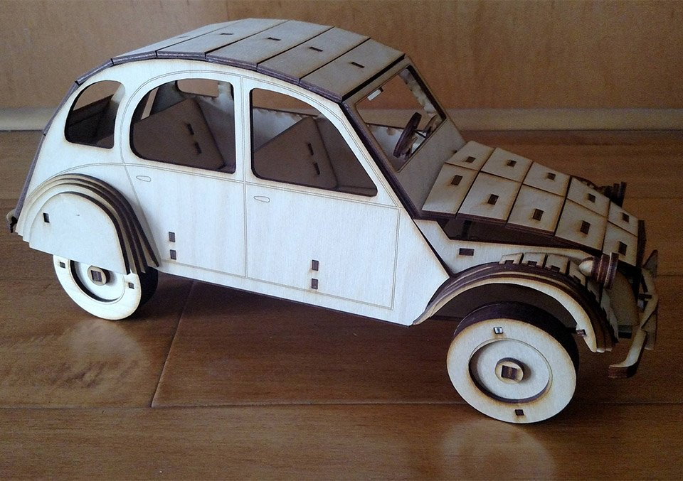 Wooden Classic Car Models