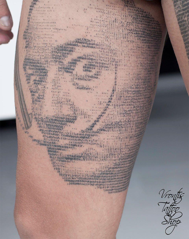 ASCII Art Tattoos