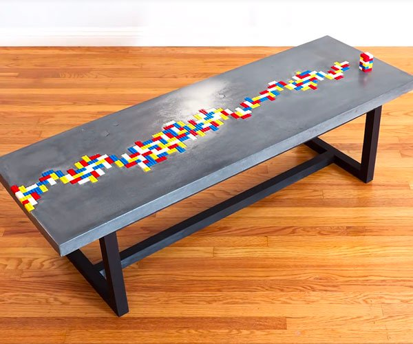 Pleasant Check Out This Custom Concrete Table With A Lego River Spiritservingveterans Wood Chair Design Ideas Spiritservingveteransorg