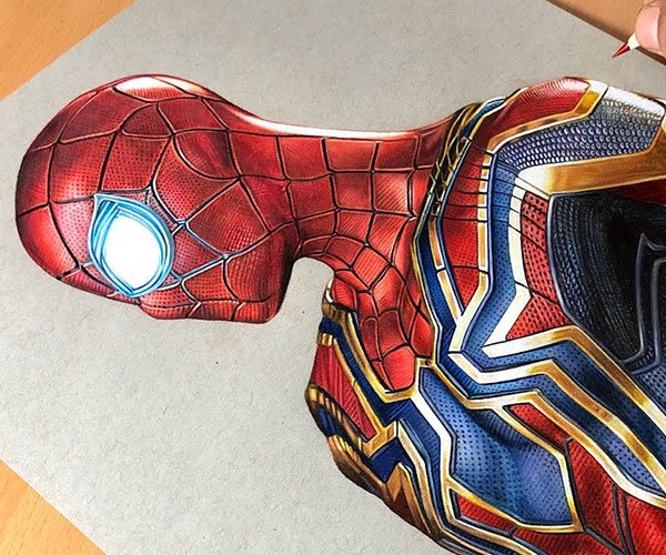 Drawing Iron Spider Spider-Man