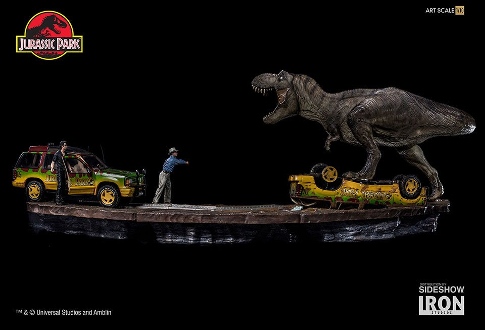 Jurassic Park T-Rex Attack Diorama