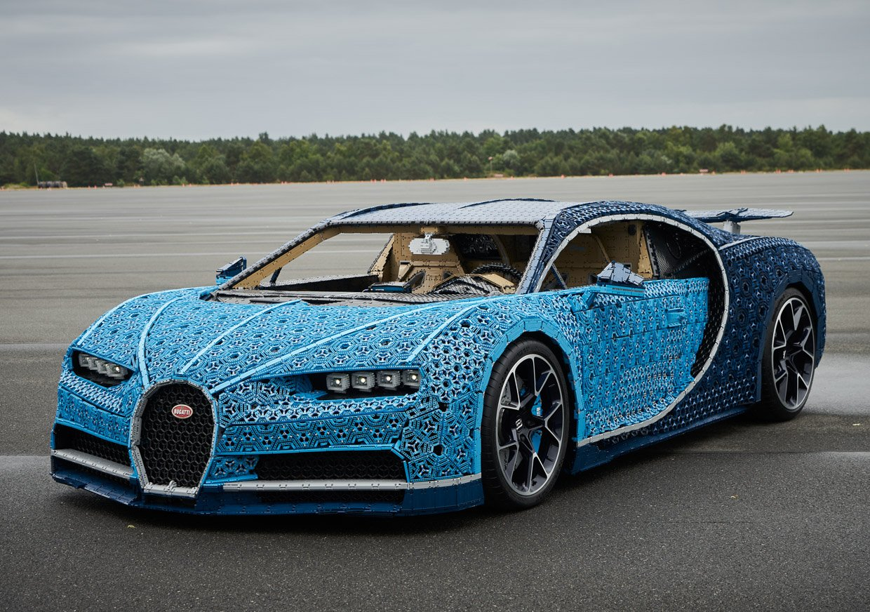 lego built a full size bugatti chiron and it actually. Black Bedroom Furniture Sets. Home Design Ideas