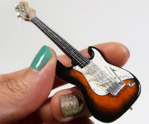 DIY Popsicle Stick Mini Guitars