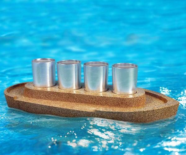 Party Boat Shot Glass Set