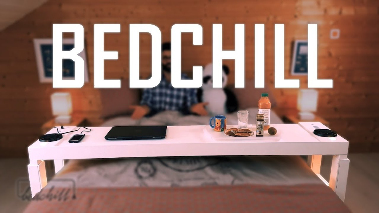 The Bedchill Is A Rolling Table That Lets You Work Play And Eat In Bed