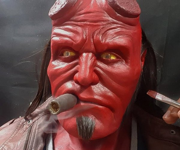Sculpting Hellboy