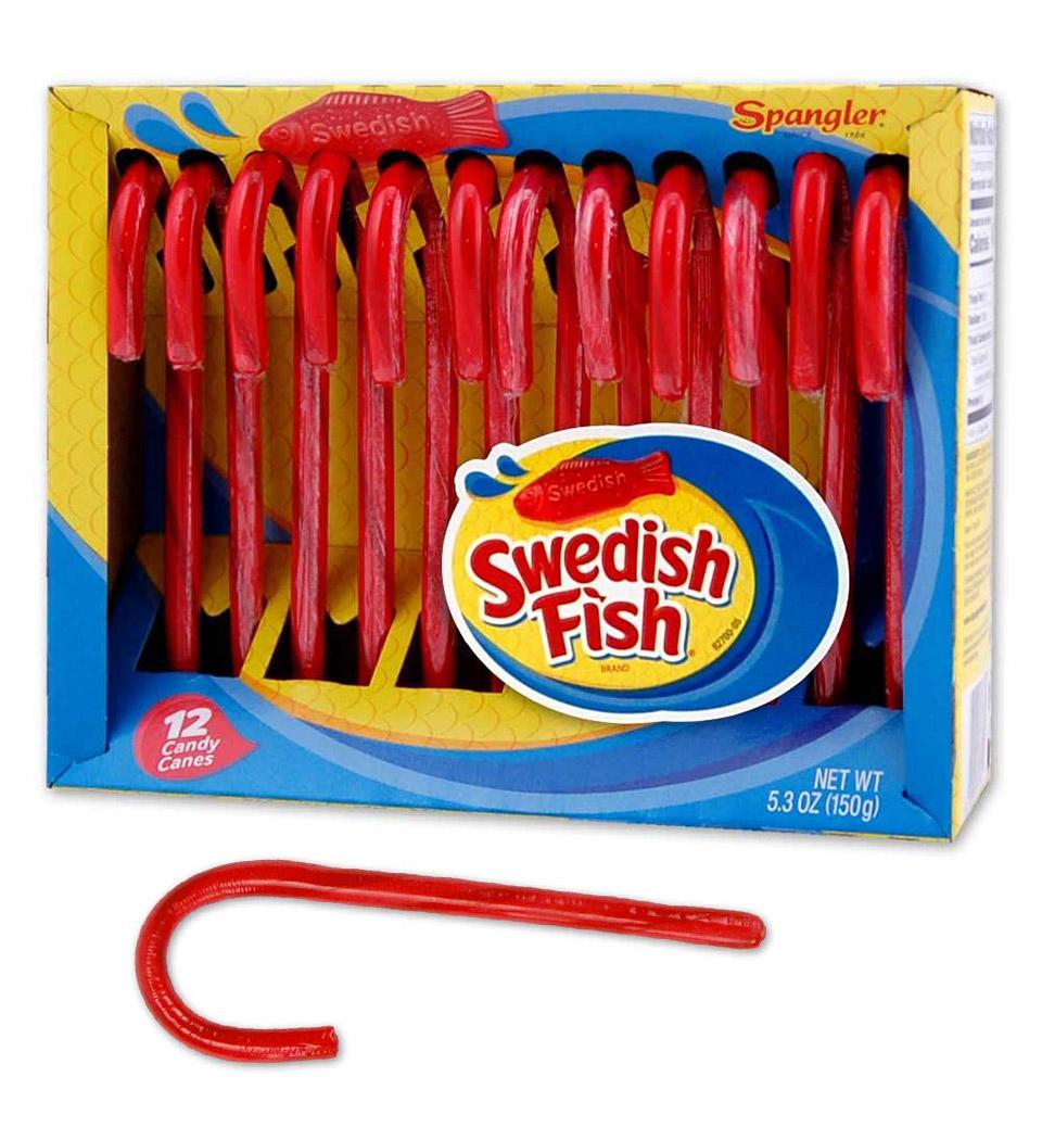 Swedish Fish Candy Canes