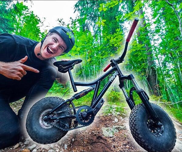 Riding a Tiny BMX Bike