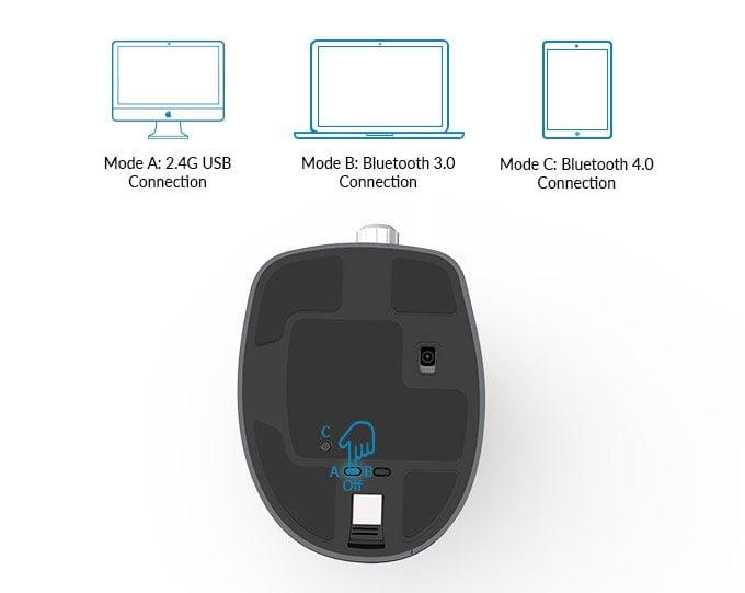 Delux Navee Ergonomic Mouse