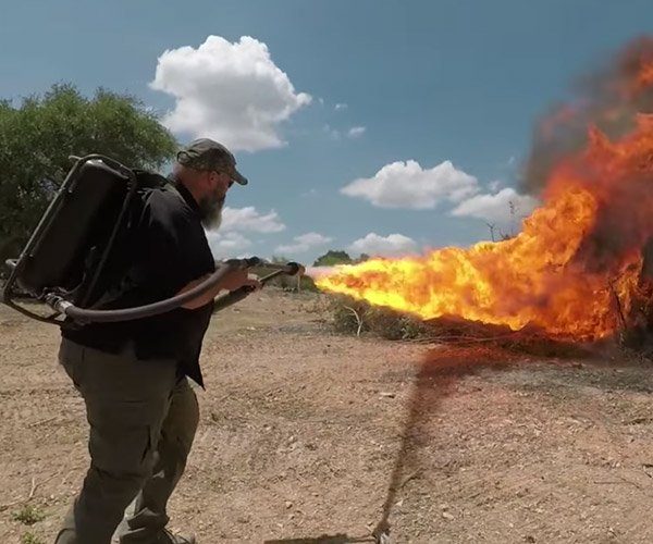 Flamethrower vs. Not a Flamethrower