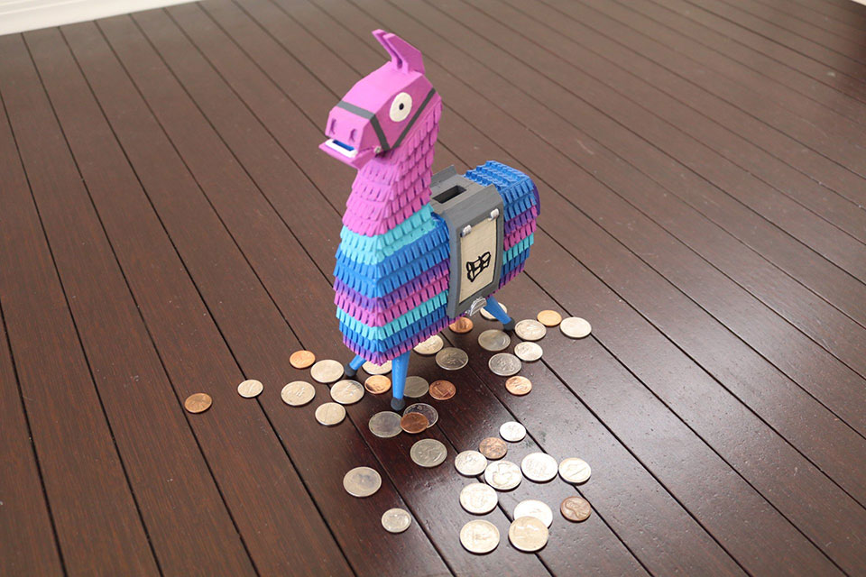 Fortnite Supply Llama Coin Bank