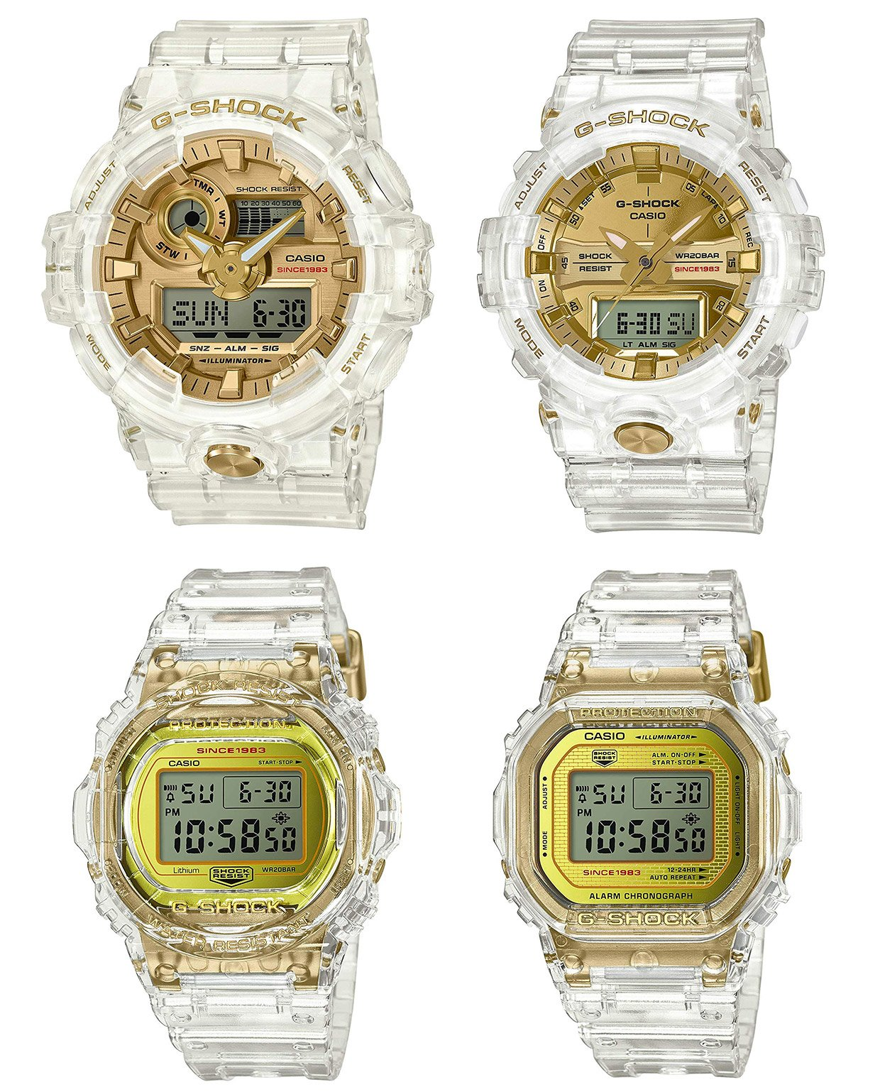 The Casio G-Shock Glacier Gold Watches Feature Semi-Transparent Parts a9bd51701dd