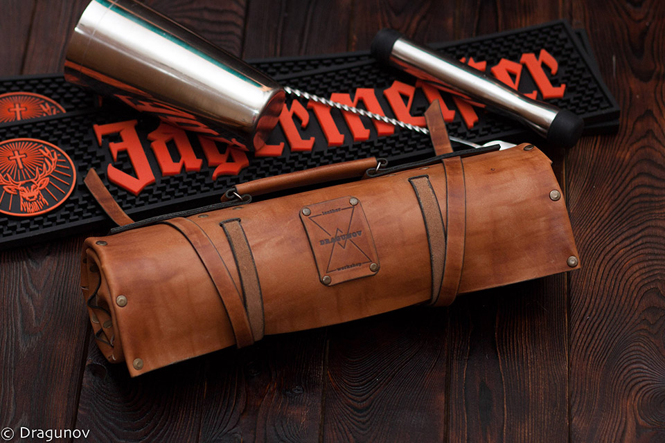 Leather Bartender's Roll