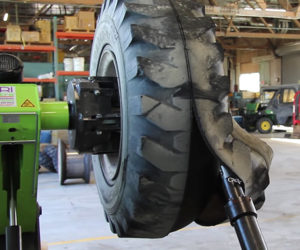 Removing a Foam Tire
