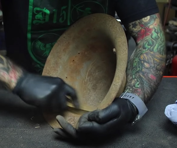 Restoring a WWII Helmet