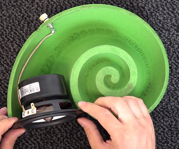 3D Printed Spiral Speakers