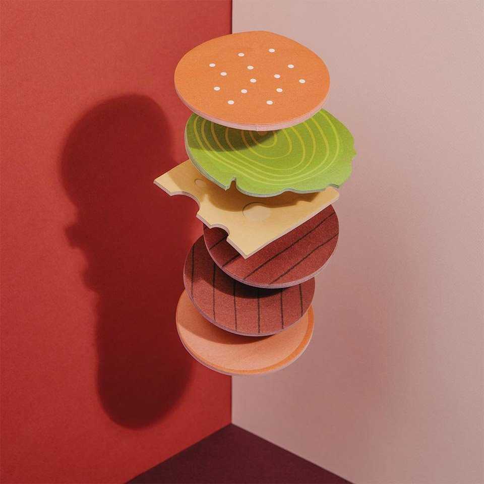 Burger Sticky Notes