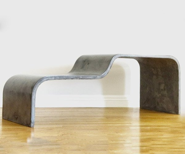 DIY Curved Concrete Bench