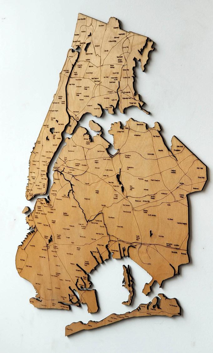 Floating Wood Maps