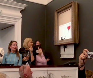 How Banksy Shred His Artwork