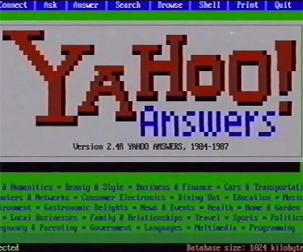 Yahoo! Answers in the '80s