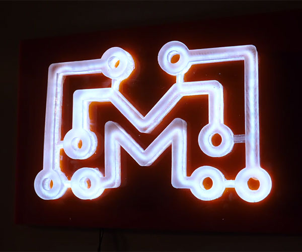 3D Printing a Faux Neon Sign