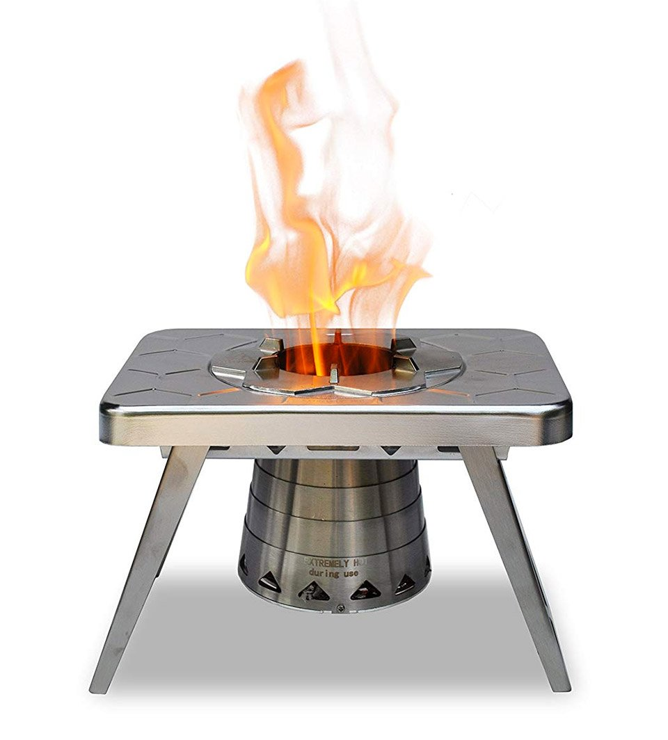 The Ncamp Camping Stove Folds Down To Just 1 5 Quot Thick