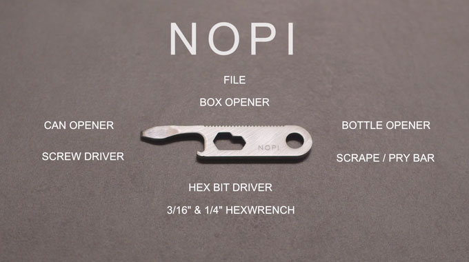 Nopi 9-in-1 Micro Key Multitool