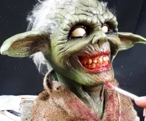 Sculpting Zombie Yoda