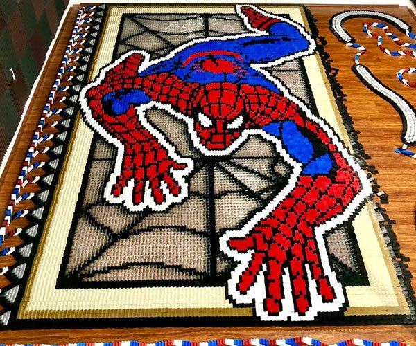 Spider-Man in Dominoes