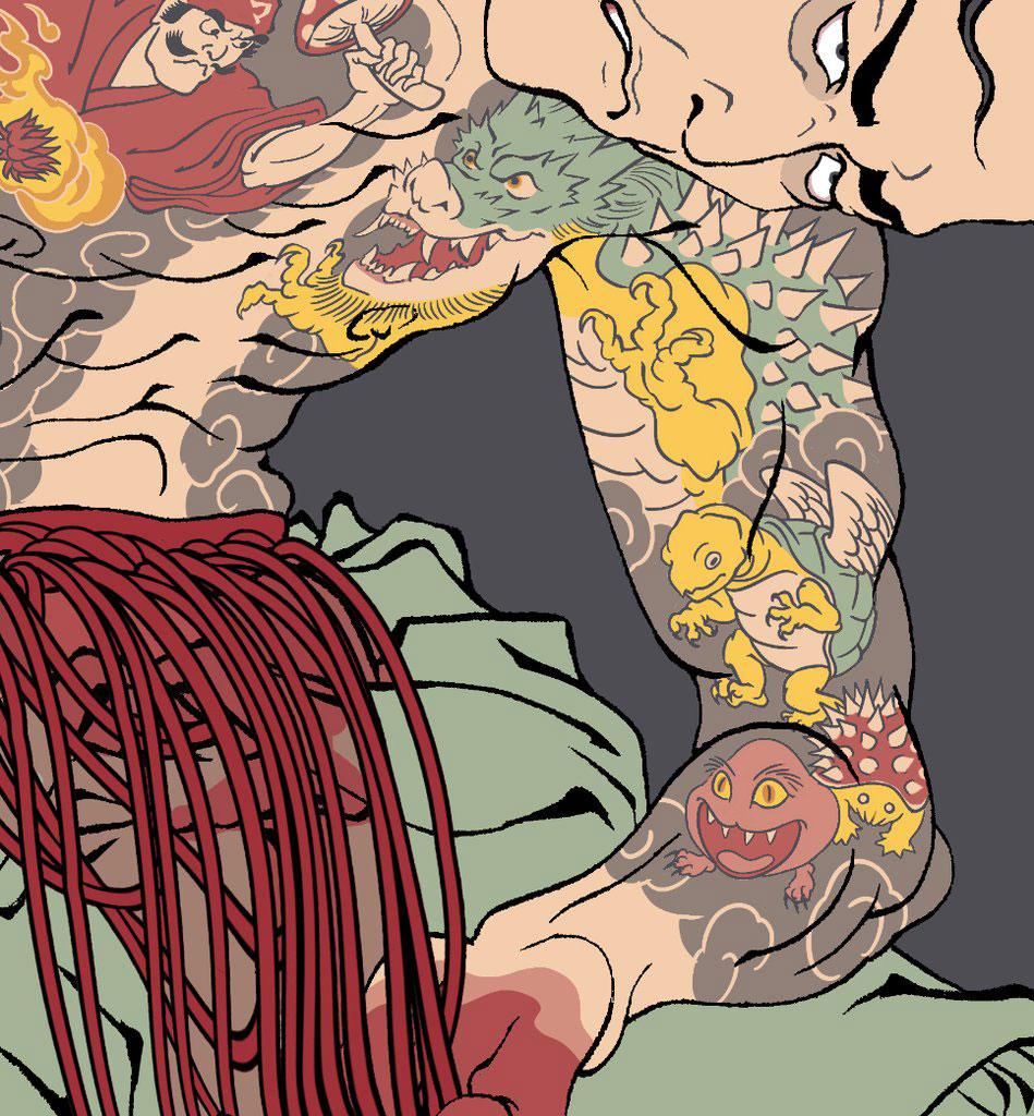 Ukiyo-e Heroes Rage Quit T-Shirt