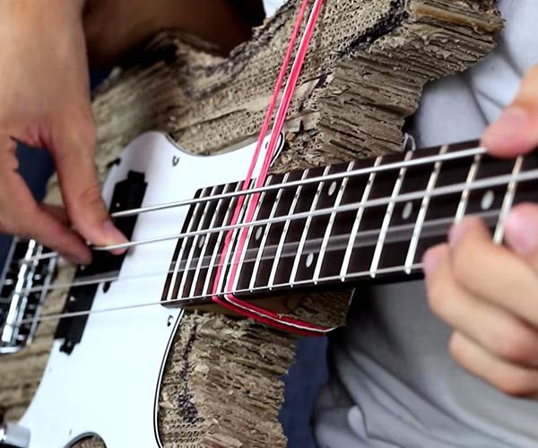 Cardboard Bass Guitar