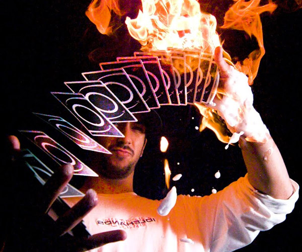 Cardistry on Fire